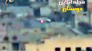 فیلم /راننده زیرک حزب الله در سوریه از موشک هدایت شونده داعش گریخت