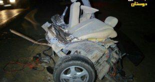 تصادف شدید پژو و پراید در جاده زاهدان- خاش جان ۷ نفر را گرفت