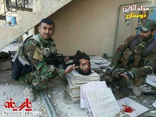 عکس یادگاری با سر بریده جلاد داعش - مجله اینترنتی دوستان