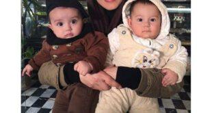 بازیگر معروف زن ایرانی و دوقلوهای بانمکش! + عکس