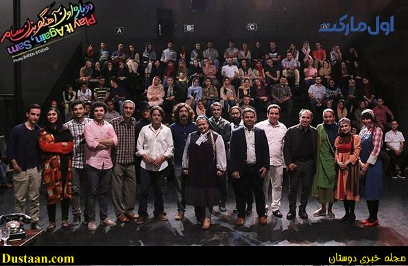 www.dustaan.com تولد سیامک انصاری با حضور بهاره رهنما, امیرمهدی ژوله و الناز حبیبی +تصاویر