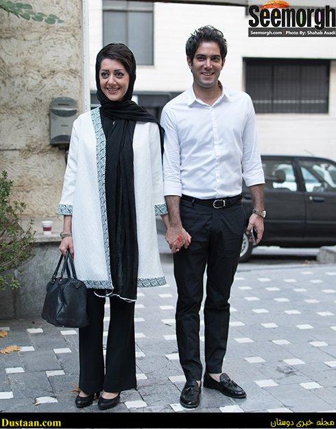 www.dustaan.com تصاویر جدید امیرعلی نبویان و همسرش در مراسم رونمایی از یک کتاب