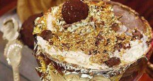 گران ترین بستنی دنیا از روکش طلا +تصاویر