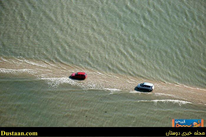 www.dustaan.com تصاویر: جاده ای فوق العاده زیبا که در روز ناپدید میشود