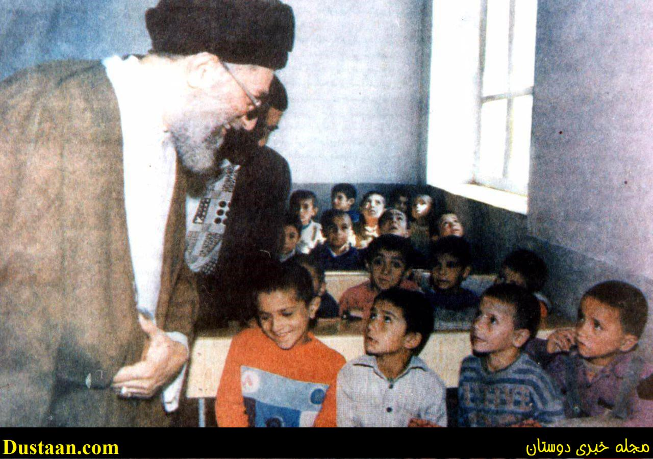 www.dustaan.com عکس: بازدید رهبر انقلاب از یک کلاس درس