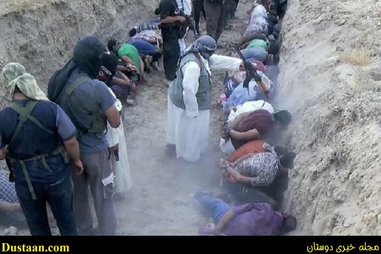 تصاویر: اعدام وحشیانه ۱۰۰ ها شهروند عراقی داخل خندق به صورت دسته جمعی توسط داعش