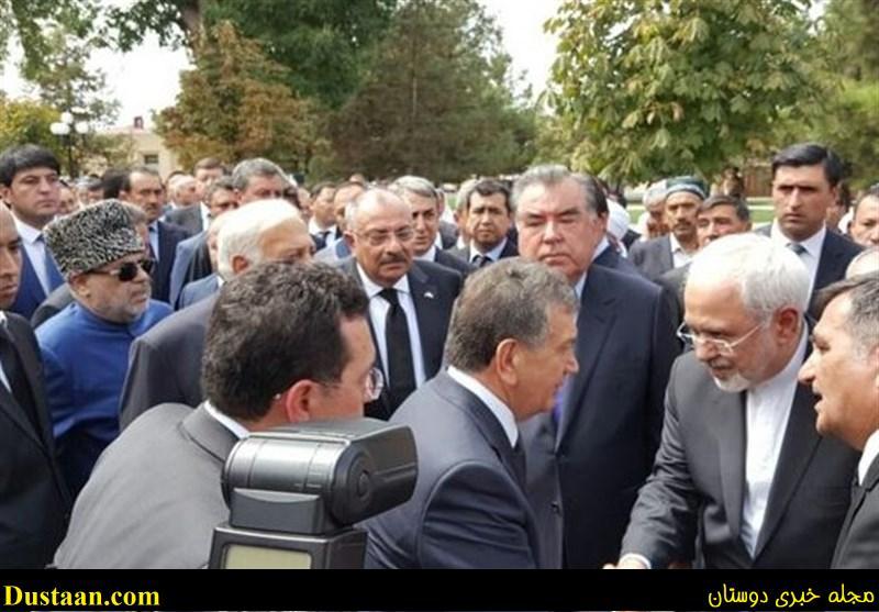 www.dustaan.com ظریف در مراسم تدفین اسلام کریم اف حضور داشت +عکس