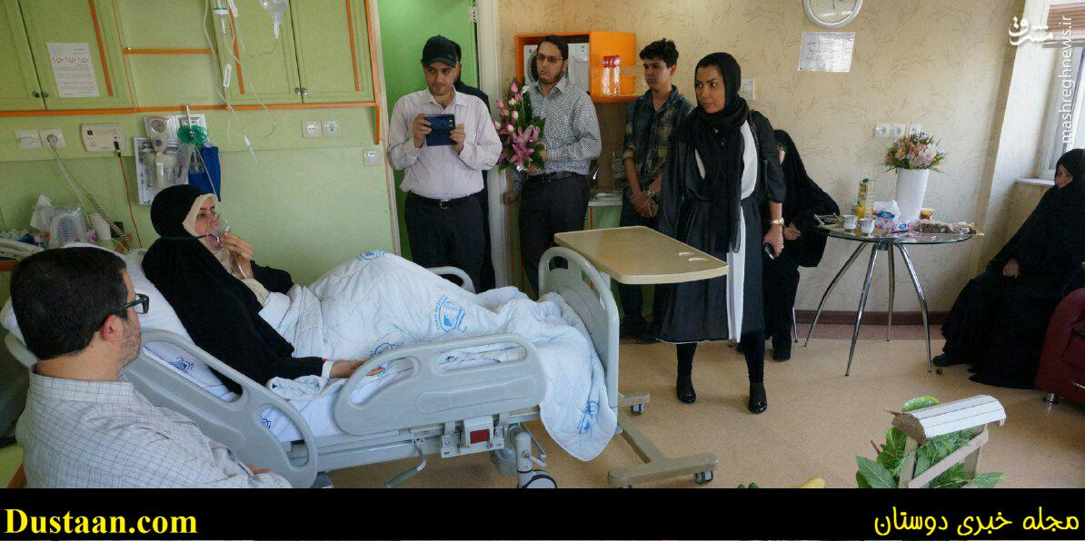 www.dustaan.com «الهام چرخنده» از بیمارستان مرخص شد