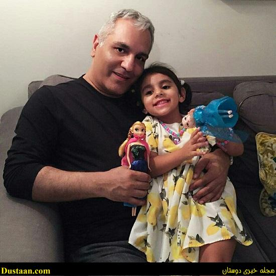 www.dustaan.com عکس: مهران مدیری در کنار نوه اش سوفیا