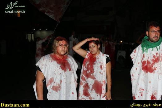 www.dustaan.com عکس: قمه زنی دختران بی حجاب در روز عاشورا