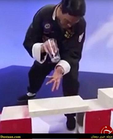 مجری تلوزیونی در برنامه زنده ابروی مهمانش را برد! +تصاویر