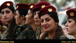 اسارت داعشی ها توسط زن کرد