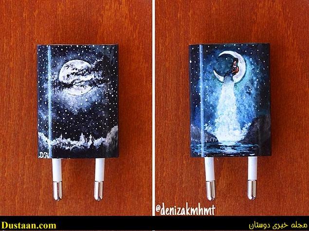 www.dustaan.com تصاویر: خلاقیت جالب یک دختر ۲۰ ساله با شارژ گوشی!