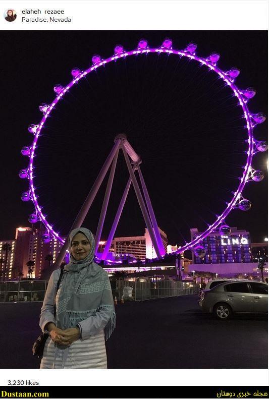 الهه رضایی در کنار بلندترین چرخ و فلک دنیا +عکس