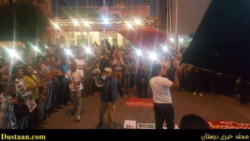 www.dustaan.com تصاویر: اعتراض و تظاهرات مردم مراکش در پی مرگ فجیع یک دستفروش