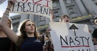 تصاویر: تظاهرات گسترده بر علیه ترامپ