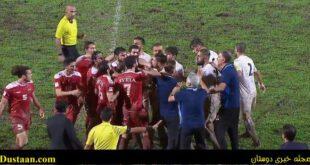 درگیری شدید بین بازیکنان ایران و سوریه +عکس