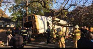 واژگونی اتوبوس جان ۶ دانش اموز را گرفت +تصاویر