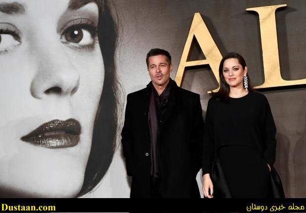 www.dustaan.com همسر سابق انجلینا جولی و بازیگر زن فرانسوی روی فرش قرمز