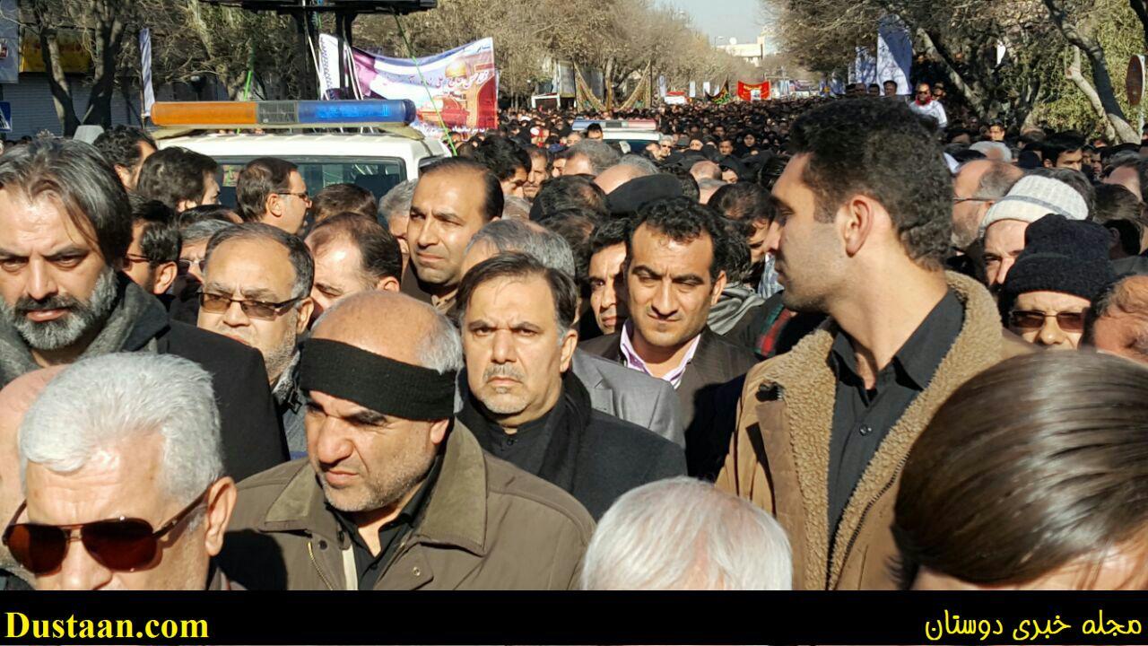 عکس: وزیر راه و شهرسازی درمراسم تشییع جان باختگان سانحه قطار