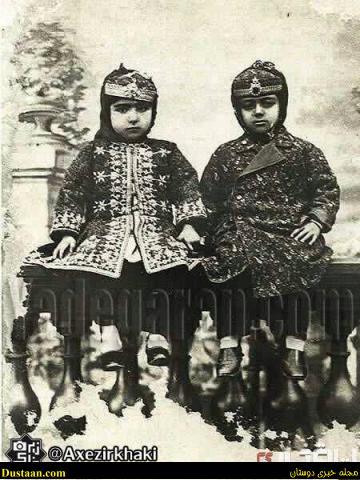www.dustaan.com زیباترین دختر ناصرالدین شاه در کنار شوهرش! +عکس