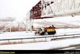 www.dustaan.com گزارش تصویری از برف و یخبندان شدید در جاده تبریز   اهر
