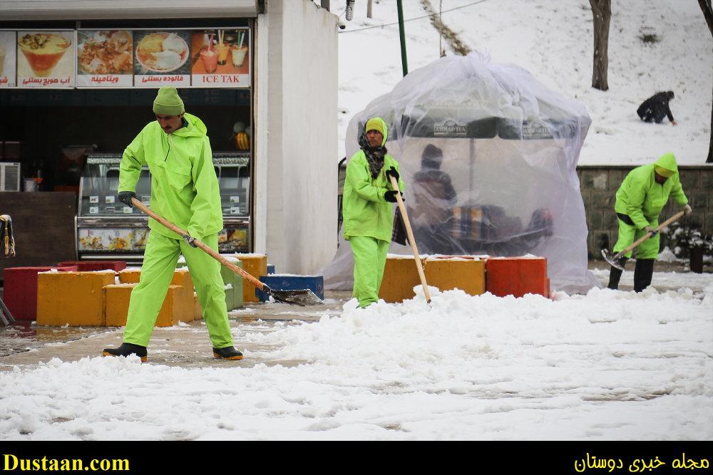 www.dustaan.com تصاویر: بارش برف امروز تهران