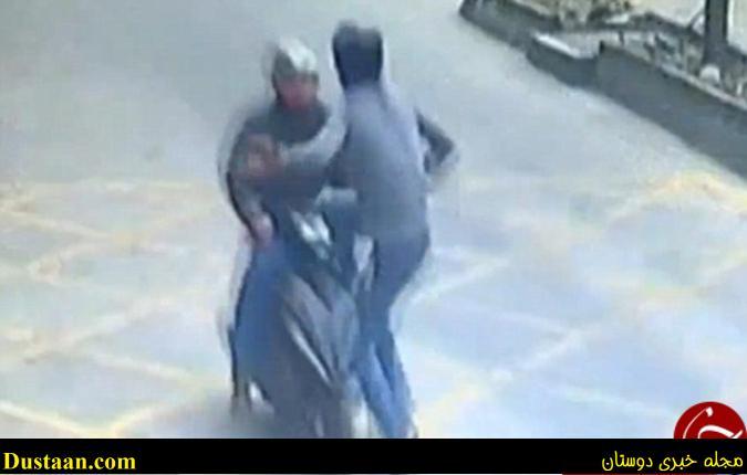 www.dustaan.com ایستادگی جانانه راننده کامیون مقابل سارق! +تصاویر