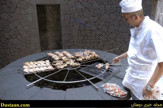 رستورانی عجیب که با گرمای آتشفشان غذای مشتریان را می پزد! +تصاویر