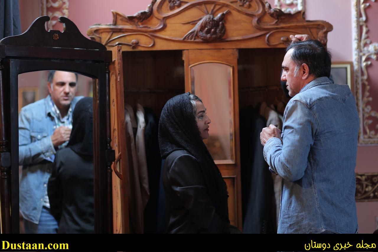 www.dustaan.com عکس: رویا نونهالی و حسن فتحی در پشت صحنه «شهرزاد۲»