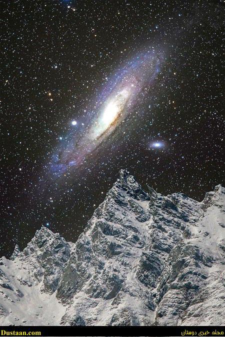 www.dustaan.com تصویری زیبا از کهکشان آندرومدا در اسمان سوئیس