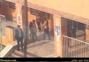 تنبیه بدنی دانش آموزان با کمربند + فیلم