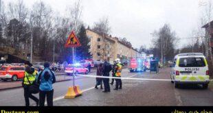 برخورد خودرو به انبوه جمعیت در فنلاند ۷ مجروح برجای گذاشت + تصاویر