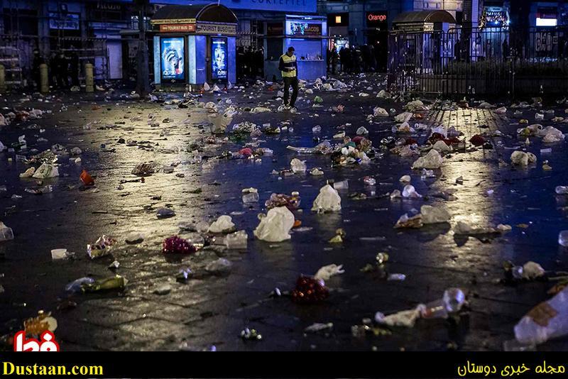 www.dustaan.com آنچه از جشن کریسمس در خیابان های مادرید بر جای ماند! +عکس