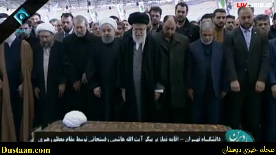 حضور رهبرانقلاب در دانشگاه برای اقامه نماز بر پیکر آیتالله هاشمی/ آغاز مراسم تشییع/ اولین تصاویر از حضور گسترده مردم