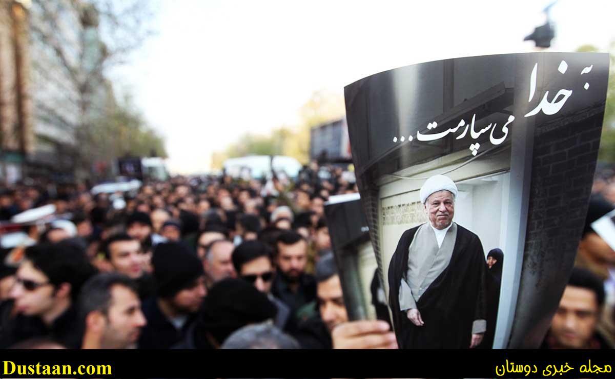تصاویر: حاشیه هایی از مراسم تشییع پیکر آیت الله هاشمی