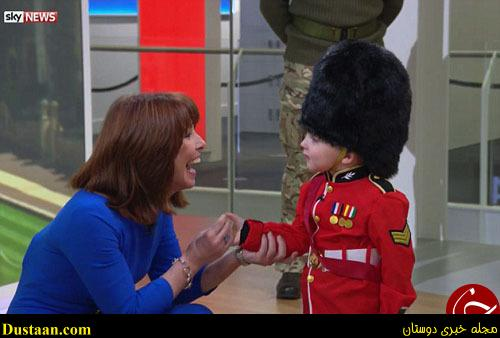www.dustaan.com پسر ۴ ساله، محافظ سلطنتی انگلیس شد!