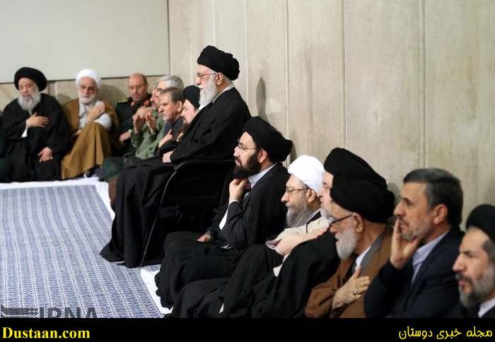 عکس: دکتر احمدی نژاد در مراسم ترحیم آیت الله هاشمی