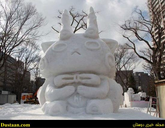 www.dustaan.com تصاویر: ساخت مجسمه هایی زیبا از برف
