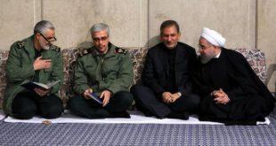 خوش و بش رئیس جمهور با سردار سلیمانی