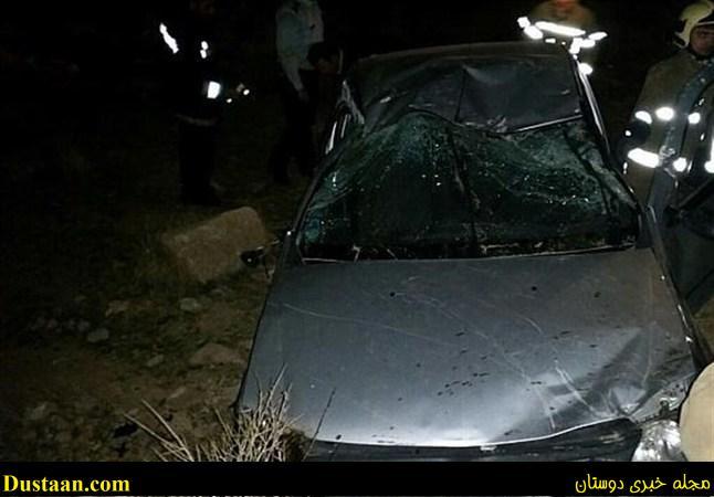 تصاویر: سقوط خودروی تندر ۹۰ به دره ای در شرق تهران