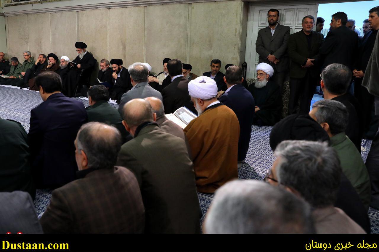 www.dustaan.com تصویری از حضور پسران مرحوم هاشمی در بیت رهبری