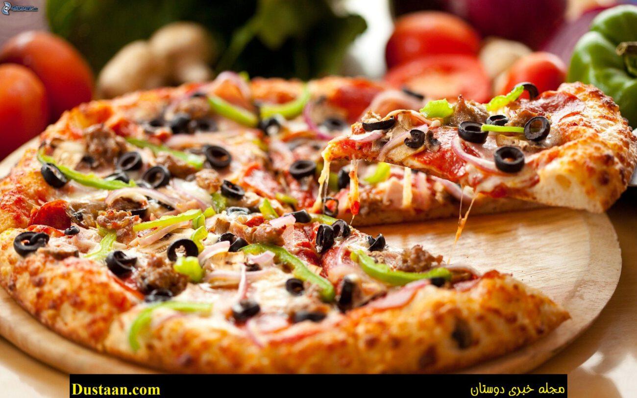 www.dustaan.com با خوردن یک برش پیتزا چه اتفاقاتی در بدن رخ میدهد؟!