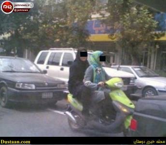 www.dustaan.com عکس: موتورسواری دو دختر در سردشت دزفول جنجال افرین شد