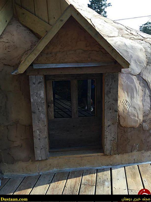 خانه ای که به شکل چکمه کابویی ساخته شده است+ تصاویر