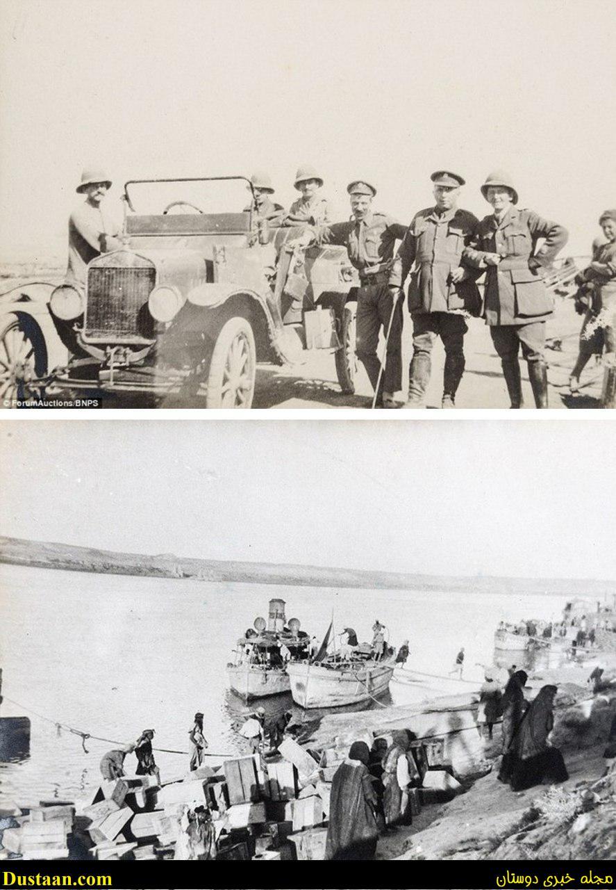 www.dustaan.com تصویری تاریخی از حمله نظامی انگلیس به عراق