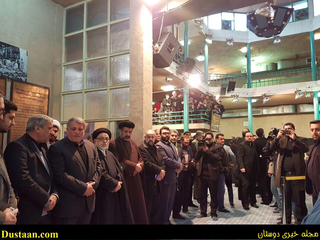 www.dustaan.com عکس: مراسم سوگواری آیت الله هاشمی با حضور رئیس جمهور