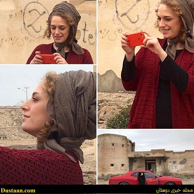 www.dustaan.com تیپ عجیب و غریب نگین معتضدی در اکران یک فیلم! +تصاویر