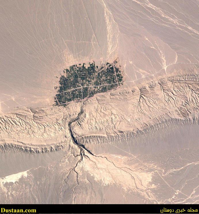 www.dustaan.com تصویری ماهواره ای و زیبا از یک روستا در کرمان