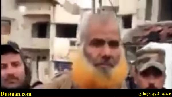www.dustaan.com فیلم: لحظه دستگیری پسر عموی ابوبکر بغدادی با ظاهری وحشتناک